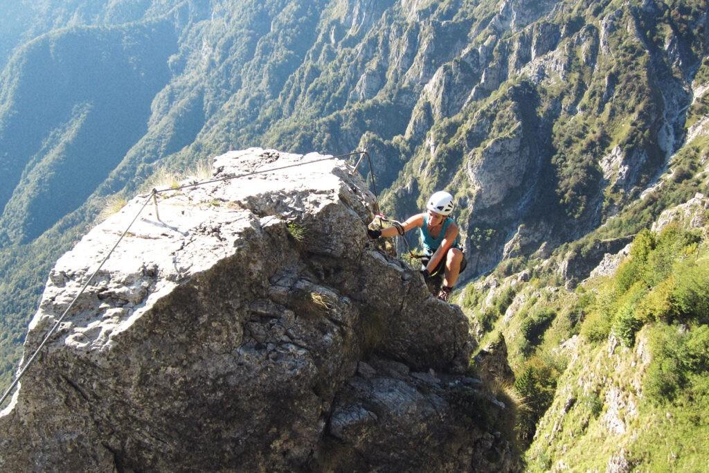 Jessica Longo Klettersteig